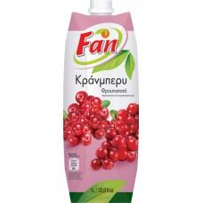 Fan Κράνα φρουτοποτό - Cranberry fruit Drink 1lt