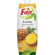 Fan Ανανάς φυσικός Χυμός - Pineapple natural juice 1lt