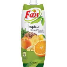 Fan 5 τροπικά φρούτα νέκταρ - Tropical 5 fruits Nectar 1lt