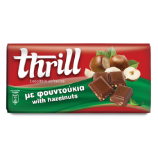 Thrill Σοκολάτα γάλακτος με φουντούκια- Milk Chocolate with hazelnuts 100g