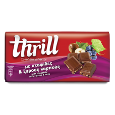 Thrill Σοκολάτα γάλακτος με σταφίδες και ξηρούς καρπούς- Milk Chocolate with raisins and nuts 100g